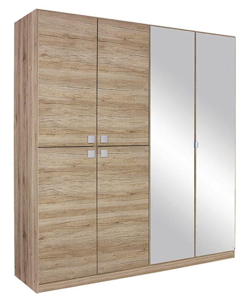 armoire 6 portes caria chene. Black Bedroom Furniture Sets. Home Design Ideas