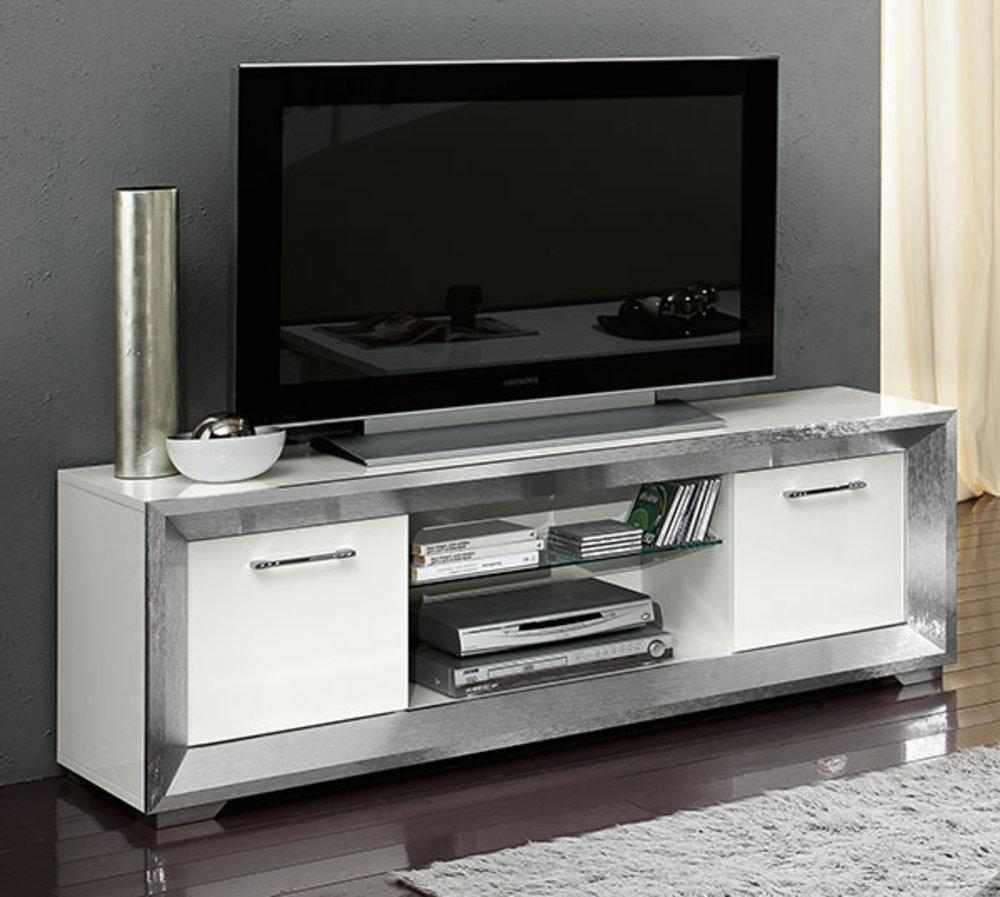 meuble tv reflex blanc brillant. Black Bedroom Furniture Sets. Home Design Ideas