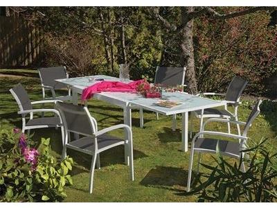 Table + 6 fauteuils Honfleur