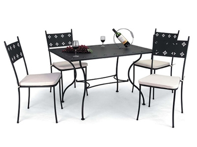 Table + 4 chaises Madere
