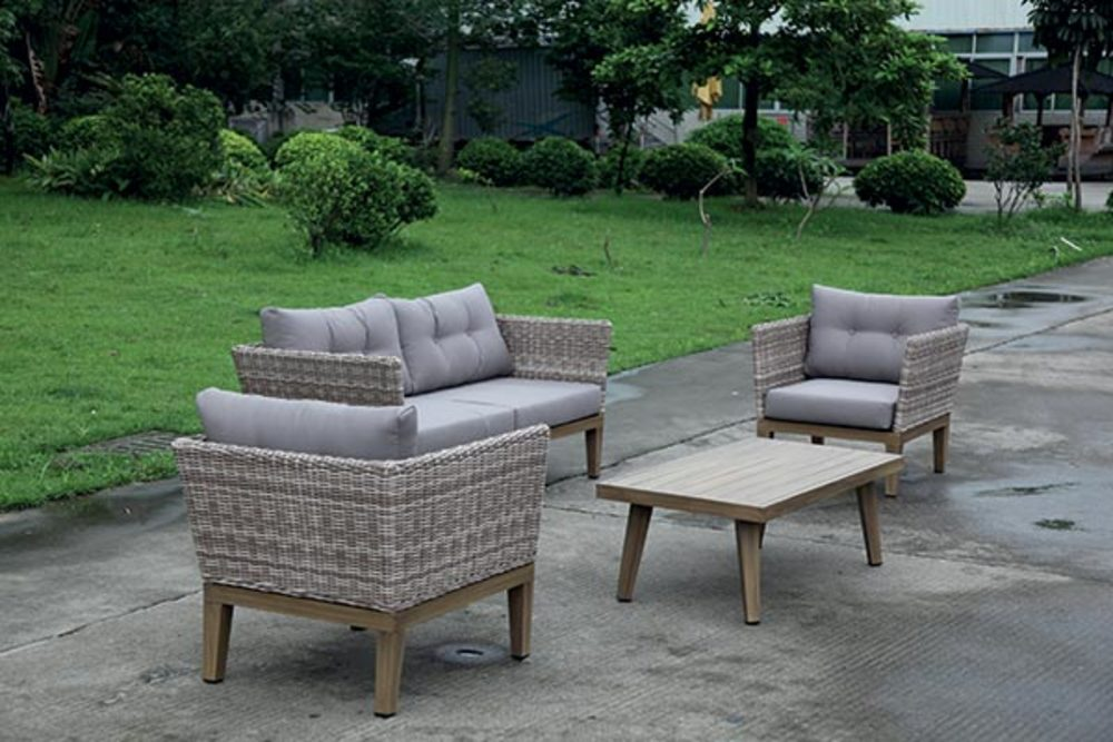 salon de jardin madison taupe bois