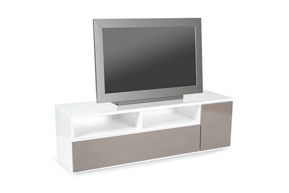 meuble tv movien blanc gris anthracite. Black Bedroom Furniture Sets. Home Design Ideas