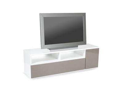 meuble tv movie chene brosse blanc. Black Bedroom Furniture Sets. Home Design Ideas
