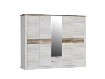 Armoire 5 portes 2 tiroirs Duro chambre à coucher
