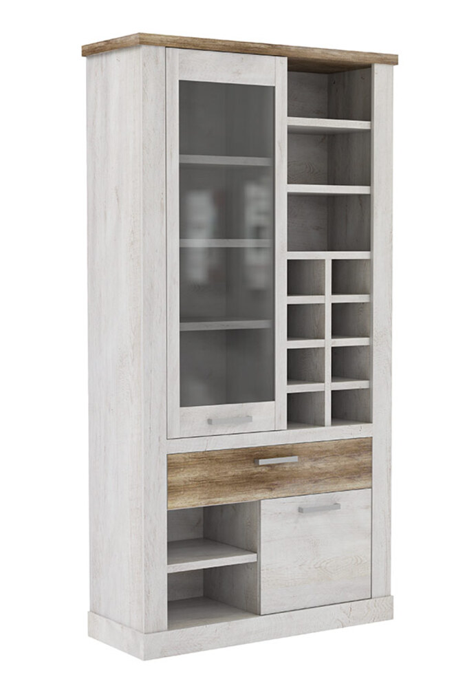 vitrine gm duro salle manger pin blanc chene antique. Black Bedroom Furniture Sets. Home Design Ideas