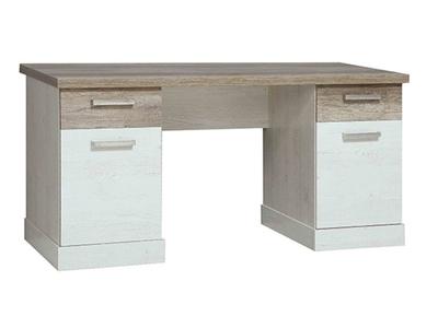 Bureau duro meuble de bureau pin blanc chene antique l 160 x h 72 x p 80