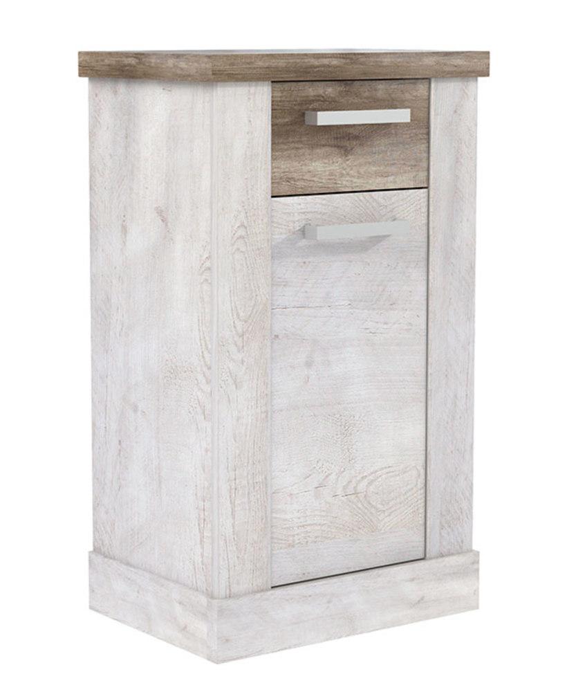 Element bas duro salle de bain pin blanc chene antique - Element de salle de bain ...