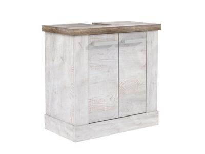 Vitrine saphir blanc brillant for Element bas salle de bain