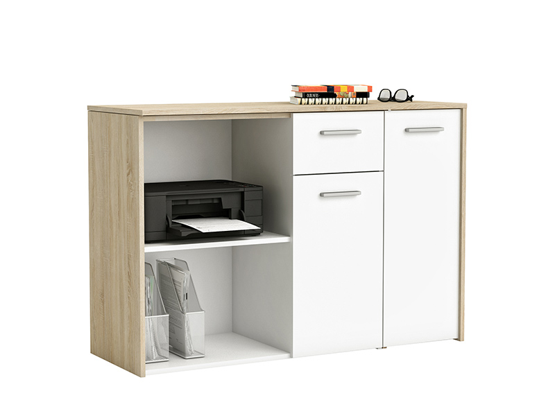 bureau pivotant open chene blanc. Black Bedroom Furniture Sets. Home Design Ideas