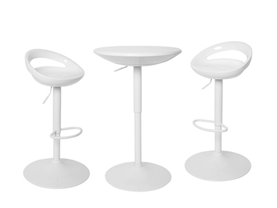 Ensemble table haute+2 tabourets Flocon