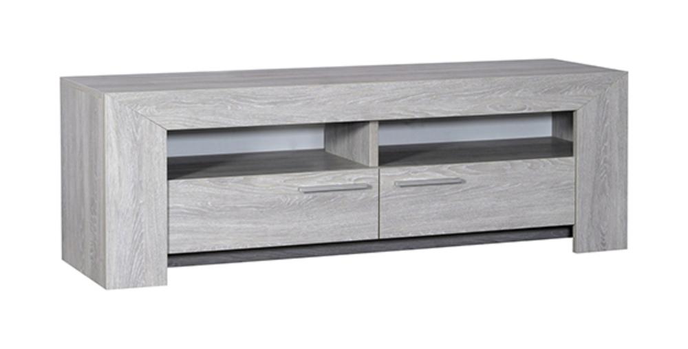 meuble tv lathi chene blanchi. Black Bedroom Furniture Sets. Home Design Ideas
