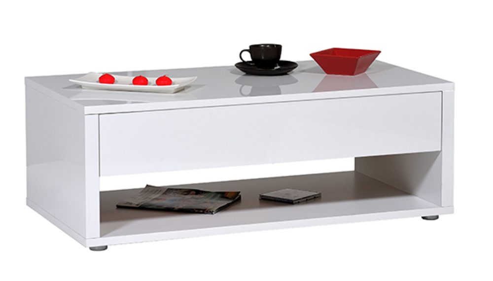 Table basse Urbana blanc brillant -> Meuble Urbana