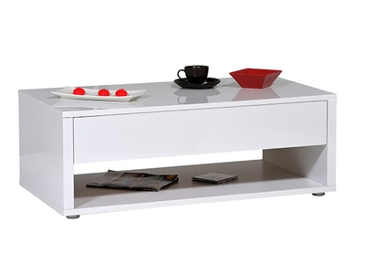 Table basse Urbana blanc brillant