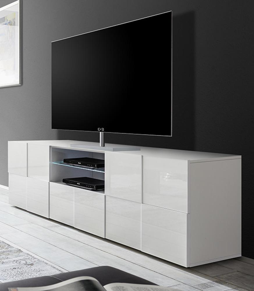meuble tv dama damier blanc brillant. Black Bedroom Furniture Sets. Home Design Ideas