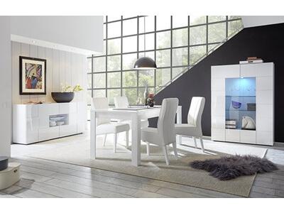 Meuble tv Damier blanc brillant