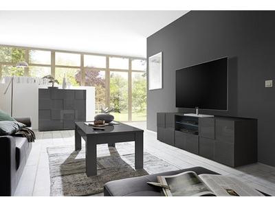 Meuble tv Damier gris brillant