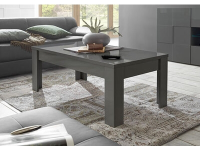 Table basse Damier gris brillant