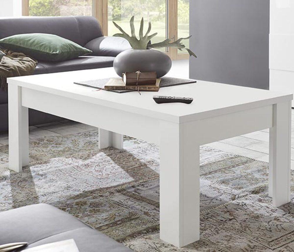 Table basse sky prato blanc mat bois - Table basse monsieur meuble ...
