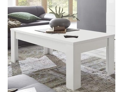Table basse Sky blanc mat/bois