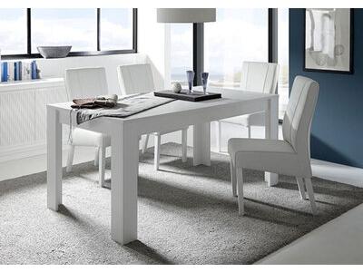 Table de repas Sky blanc mat/bois