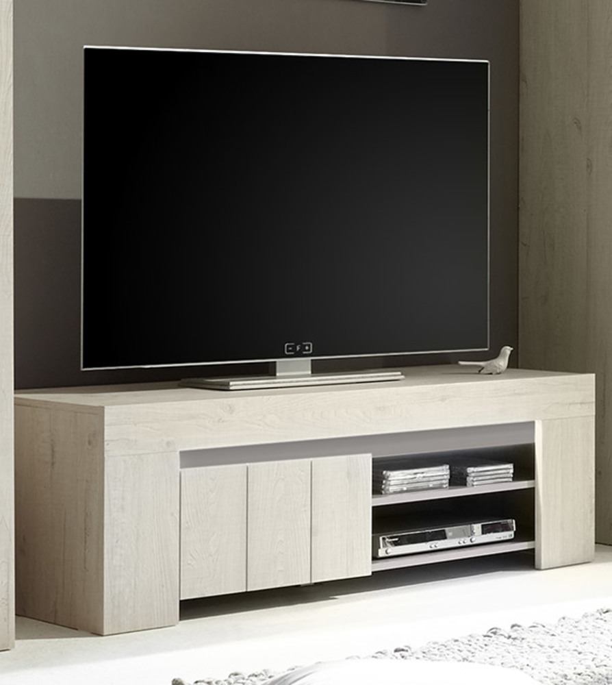 meuble tv palmira chene blanchi. Black Bedroom Furniture Sets. Home Design Ideas