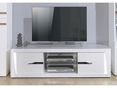 meuble tv 1 tiroir vertigo blanc brillant. Black Bedroom Furniture Sets. Home Design Ideas
