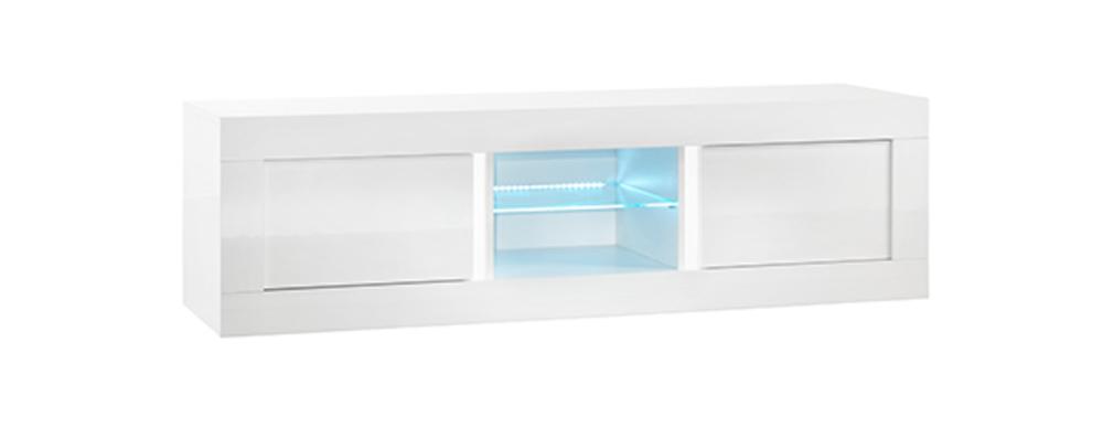 Meuble tv plasma neos blancl 180 x h 50 x p 48 - Meuble tv hifi blanc ...