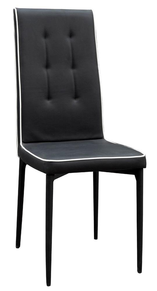 chaise samia noir blanc. Black Bedroom Furniture Sets. Home Design Ideas