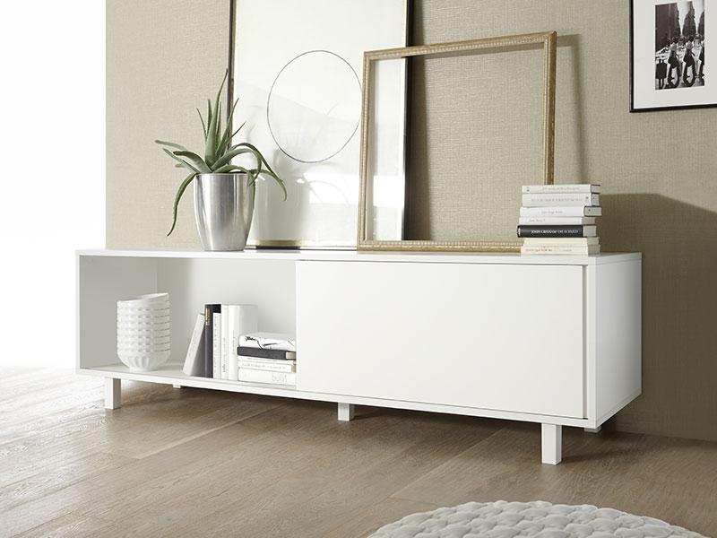 meuble bas aladin blanc mat. Black Bedroom Furniture Sets. Home Design Ideas