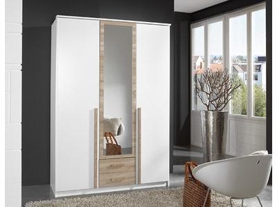 Armoire 3 portes 2 tiroirs Grio