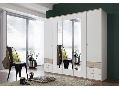 Armoire 5 portes 6 tiroirs