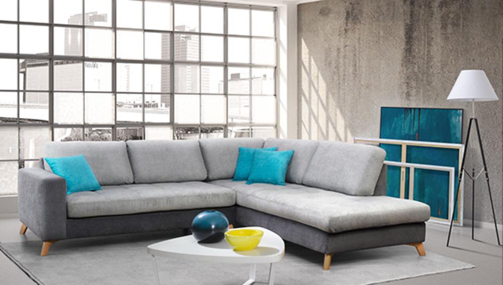canap d 39 angle droite copenhaguen gris anthracite gris perl. Black Bedroom Furniture Sets. Home Design Ideas