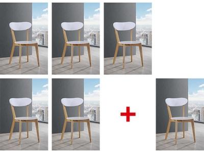 Lot de 5 chaises + 1 offerte Oslo