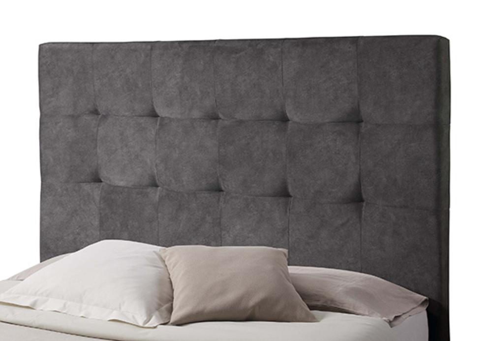 tete de lit capitonn capiton gris anthracite l 90 x h 120 x p 10. Black Bedroom Furniture Sets. Home Design Ideas