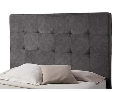 tete de lit damier spagna blanc noir l 155 x h 100 x p 10. Black Bedroom Furniture Sets. Home Design Ideas