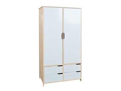 Armoire 2 portes 4 tiroirs
