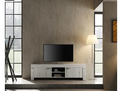 Meuble tv Candi chene blanc