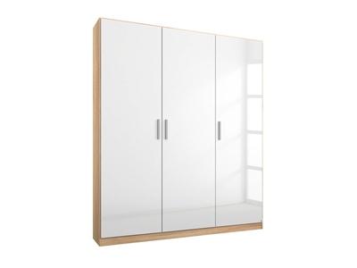 Armoire 3  portes Celle chene sonoma/blanc brillant
