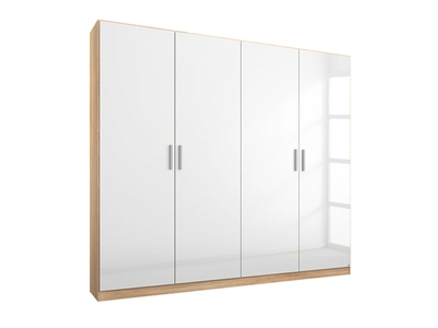 Armoire 4  portes Celle chene sonoma/blanc brillant