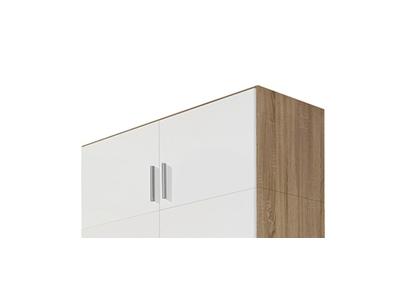 Surmeuble d'armoire 2 portes Celle chene sonoma/blanc brillant