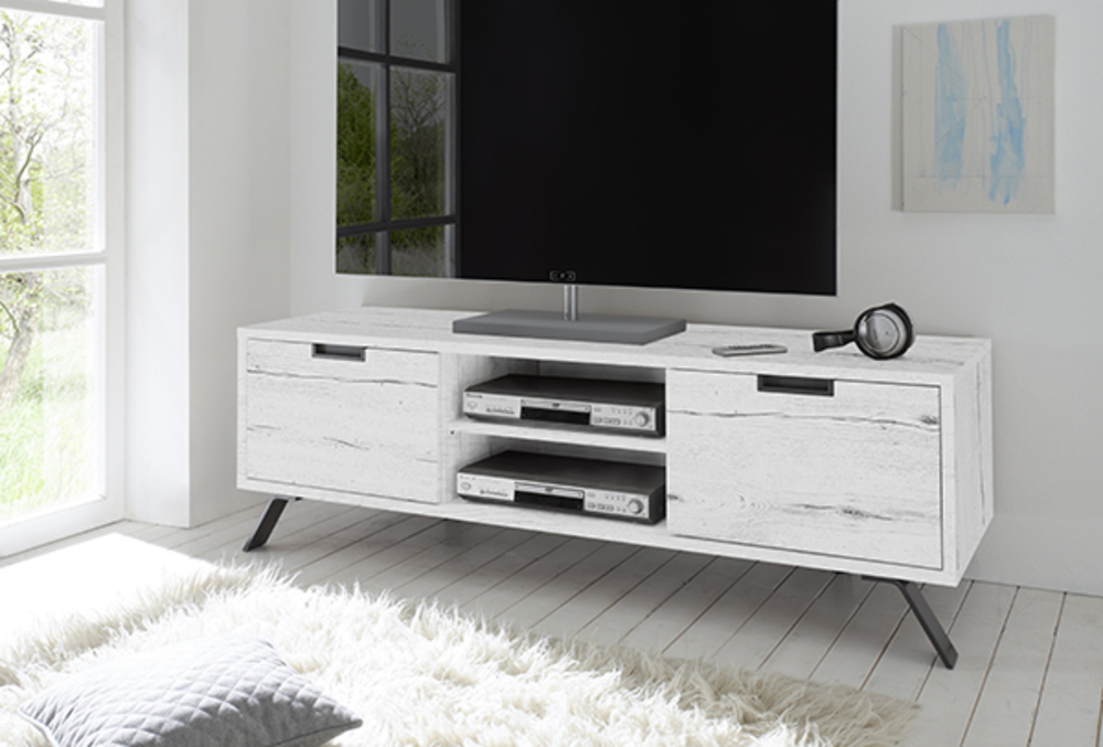 meuble tv gelsomina chene blanchi. Black Bedroom Furniture Sets. Home Design Ideas