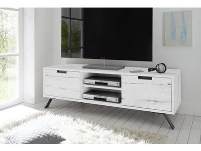 Meuble tv Goa  chene blanchi