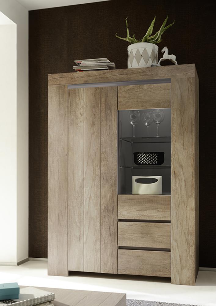 vitrine palmira chene canyon. Black Bedroom Furniture Sets. Home Design Ideas
