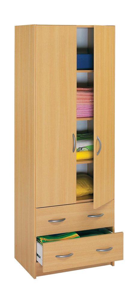 armoire 2 portes 2 tiroirs essentiel hetre. Black Bedroom Furniture Sets. Home Design Ideas