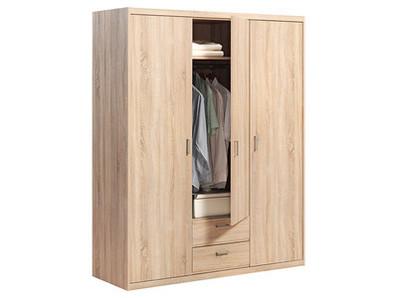 Armoire 3 portes 2 tiroirs Soft plus