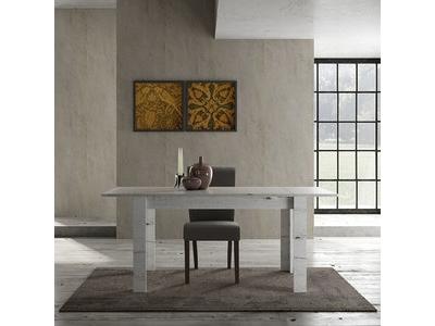Table de repas extensible Candi chene blanc