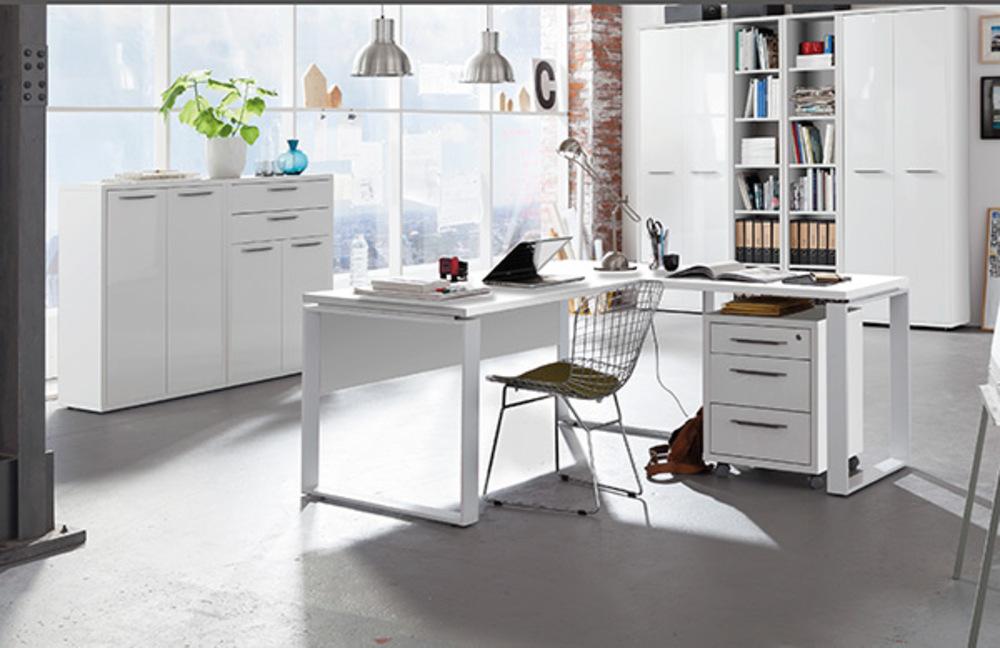 Bureau ufficio blanc blanc brillant