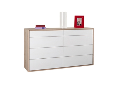 Commode 8 tiroirs denia blanc for Maxi meuble montreal