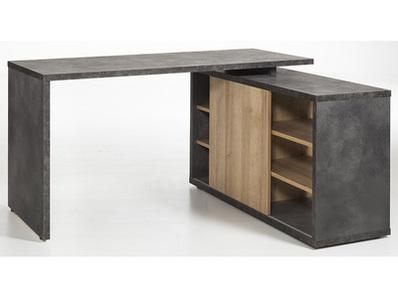 bureau d 39 angle r versible core chene gris. Black Bedroom Furniture Sets. Home Design Ideas
