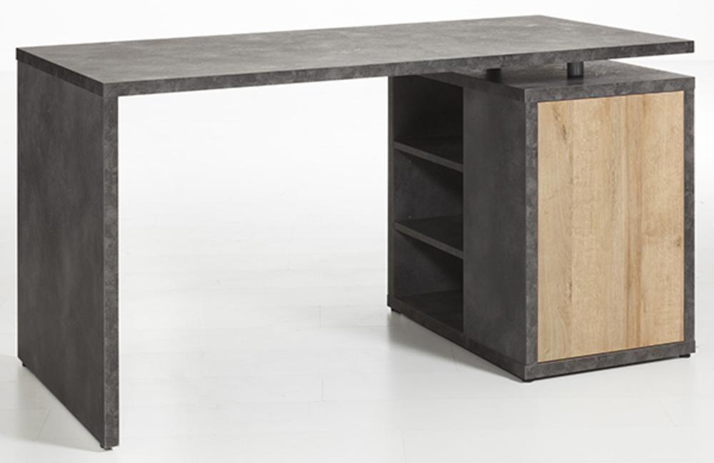 bureau core chene gris. Black Bedroom Furniture Sets. Home Design Ideas
